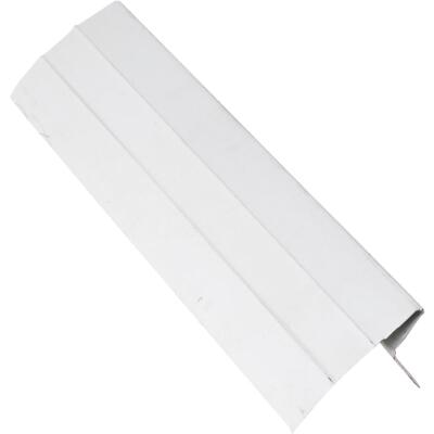 NorWesco D Galvanized Steel Roof & Drip Edge Flashing, White