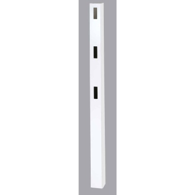 Outdoor Essentials 5 In. x 5 In. x 84 In. White Line 3-Rail Fence Vinyl Post