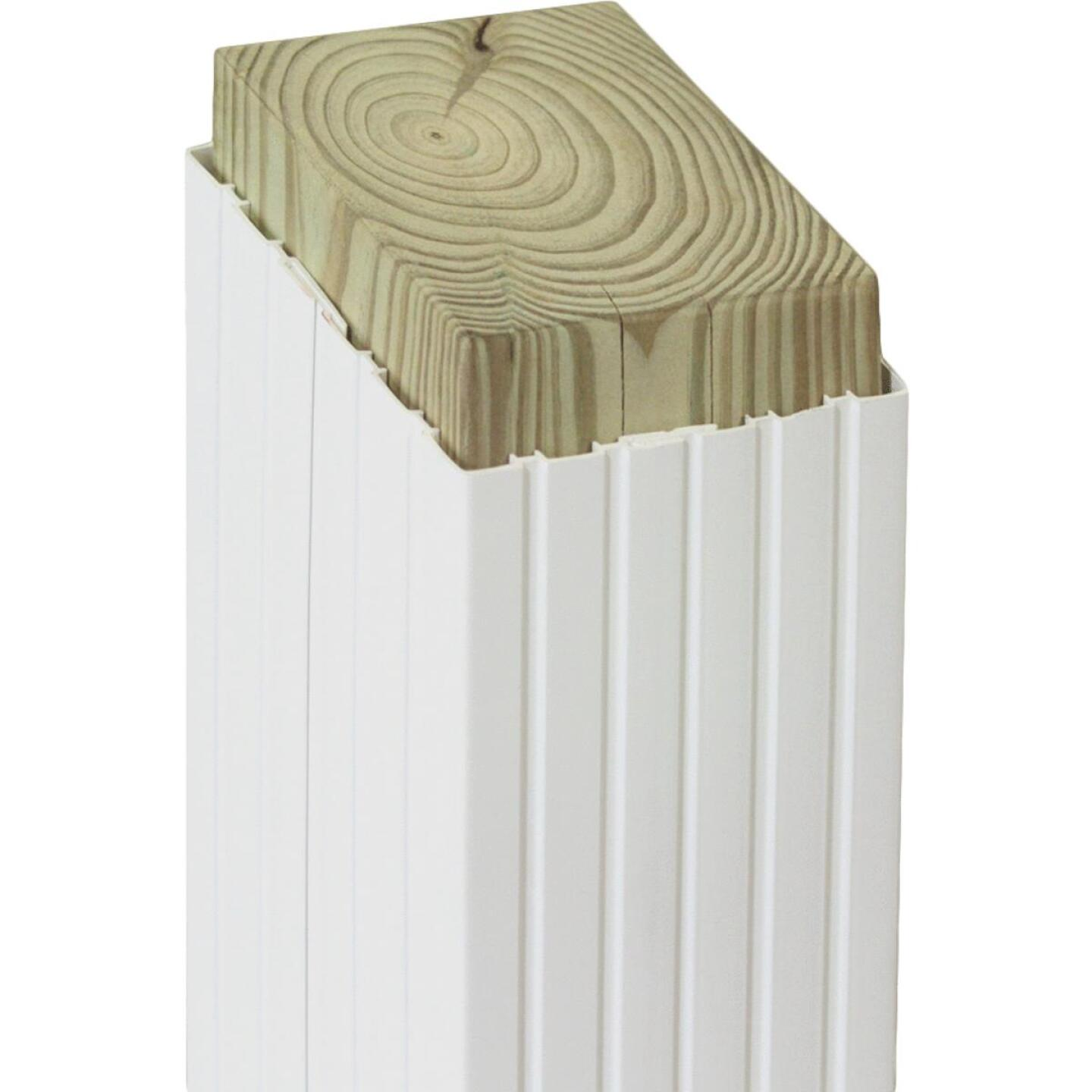 Beechdale 4 In. W x 4 In. H x 102 In. L White PVC Fluted Post Wrap Image 1