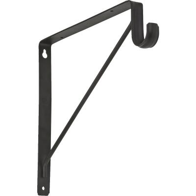 Stanley Home Designs 12-5/8 In. H. x 11 In. D. Shelf & Rod Bracket, Oil Rubbed Bronze