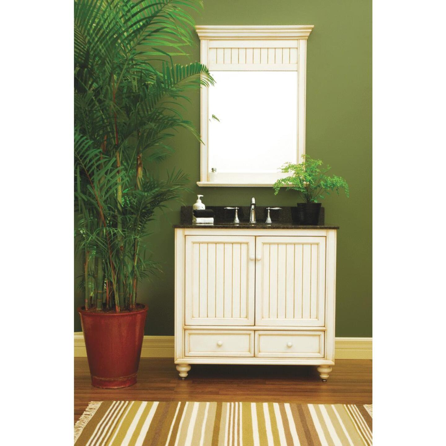 Sunny Wood Bristol Beach White 36 In. W x 34 In. H x 21 In. D Vanity Base, 2 Door/2 Drawer Image 7