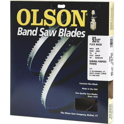 Olson 93-1/2 In. x 3/8 In. 4 TPI Skip Flex Back Band Saw Blade