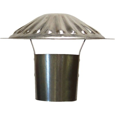 S & K Galvanized Steel 3 In. x 6-3/4 In. Vent Pipe Cap