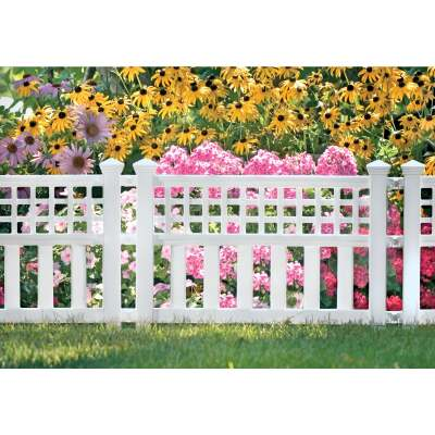 Suncast 20 1/2 In. H x 24 In. L Resin Decorative Border Fence